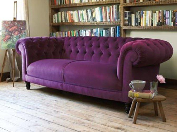 Классический английский диван в интерьере