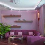 Сиренево-лиловая гостиная