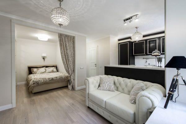 Дизайн маленькой спальни гостиной
