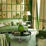 декор зеленой гостиной