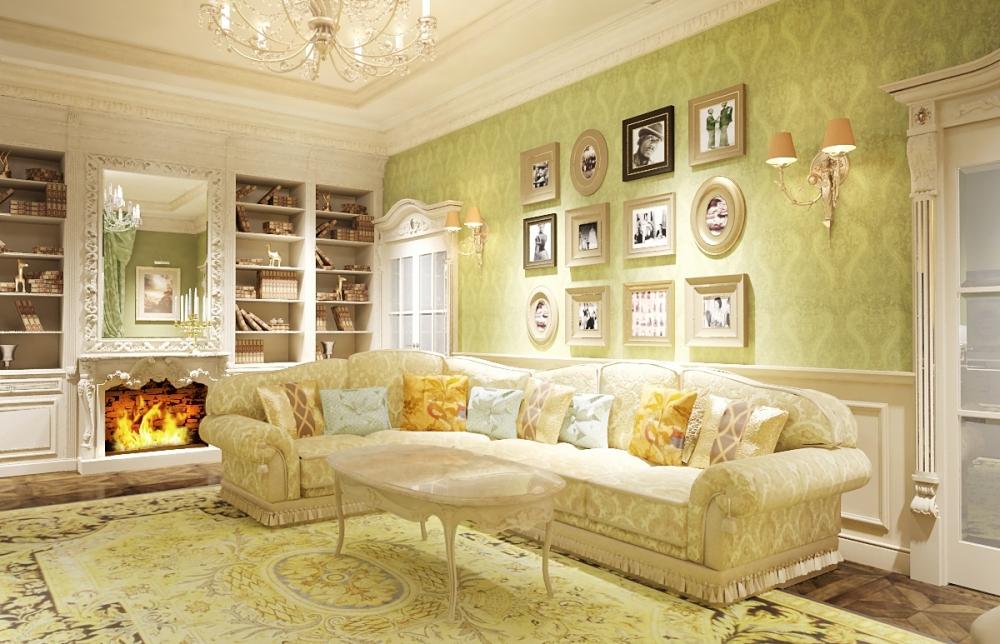 Нежная гостиная в стиле прованс