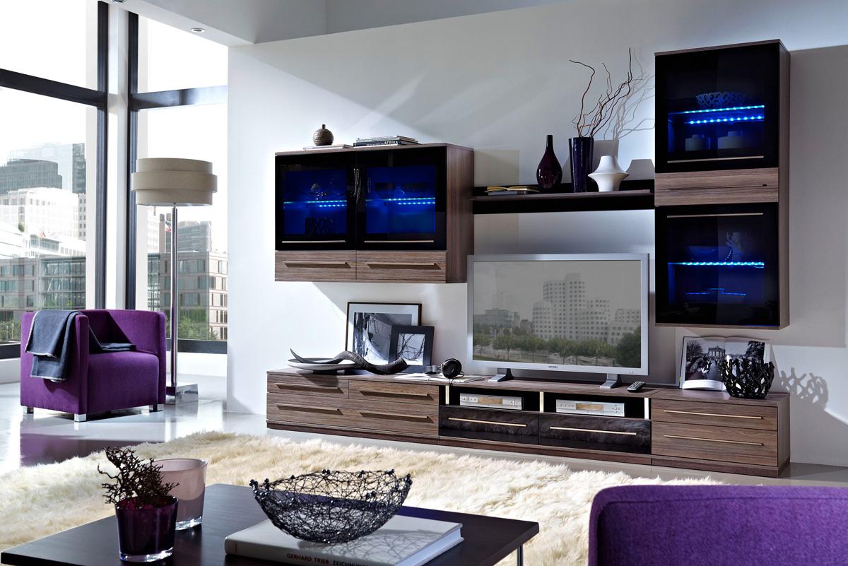 Модульная гостиная с подсветкой