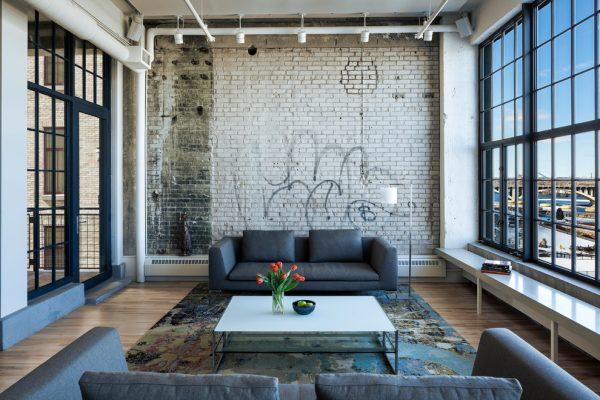 Оформление стен в стиле лофт