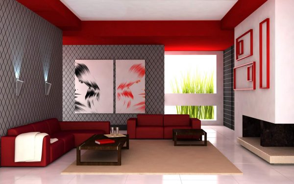 Дизайн просторной гостиной