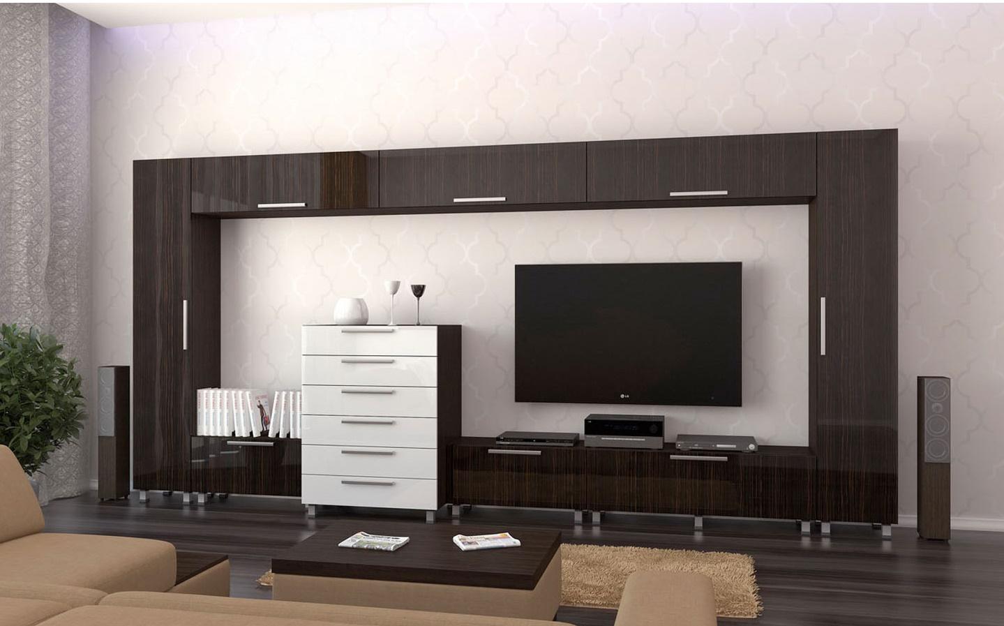 Модульные стенки в стиле минимализм