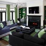 Сине-зеленая гостиная