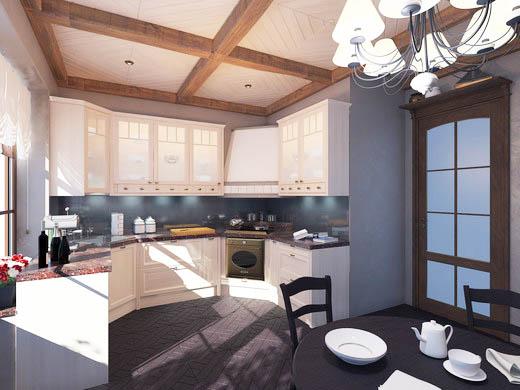 Дизайн кухни в загородном доме: рассмотрим варианты