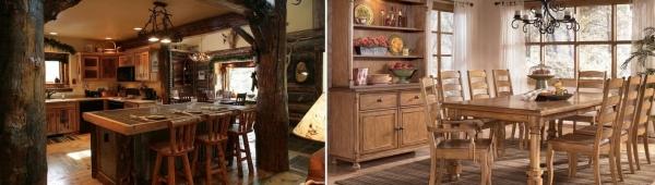 Уютные кухни в деревянных домах: правила оформления