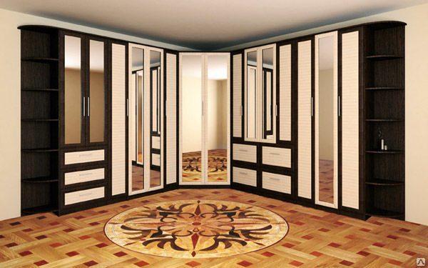 Шкаф купе для большой гостиной