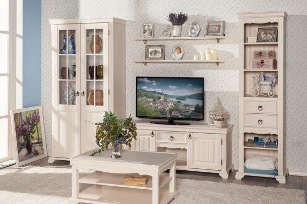 Мебель в светлых тонах для гостиной прованс.