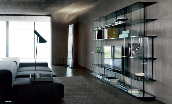 Современная стеклянная мебель для гостиной