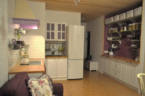Функциональный дизайн кухни-гостиной